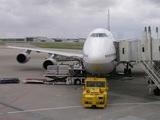 出発準備中のB747@那覇空港