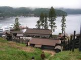 関所と芦ノ湖