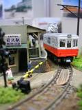 前沢駅と日立電鉄の車両