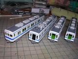 原型前面の8000系電車