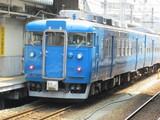 真っ青な413系
