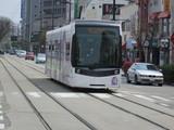 1系統富山駅前行接近