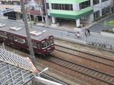 ホテルの部屋から阪急京都線