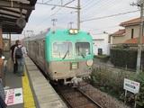 電車とベルギー人一行