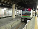 上野駅地上ホームにてE233系
