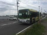 アーバンみらいバス停と東大02系統バス