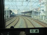 駅も前後でS字コーナー