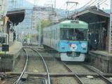 近江神宮前駅進入中