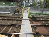 石山寺駅すぐの踏切