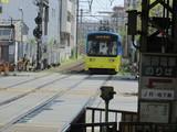 恵美須町行モ703号車入線中