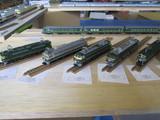 偽トワイライトの機関車群