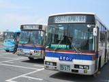 茨城交通のバス3台横ならび