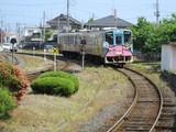 勝田行列車入線中