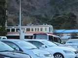 新藤原方面へ向かう電車