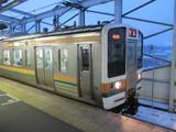 211系雪景色@伊勢崎駅
