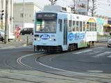 井原カーブに進入する駅前行電車