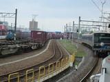 貨物と電車とディーゼル機関車