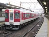 近鉄富田を出発する5200系急行電車