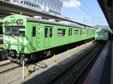 京都駅に並ぶ103系電車