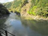 保津峡と新線の鉄橋