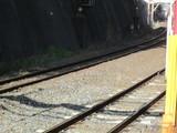 山陰本線新線と旧線が合流する