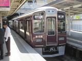 接続待ちの9000系普通電車