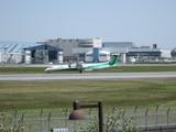 緑の全日空機「エコボン」