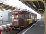 恵美須町駅ホームで待機中のモ164号車