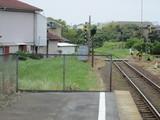 平磯駅ホームの端っこ