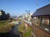 横湯川と渋温泉街