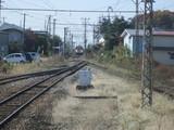 小布施構内に進入する電車