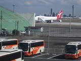 遠いけとカンタス航空B747@羽田国際線T付近