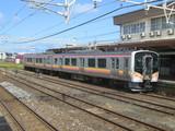 発車したワンマン列車
