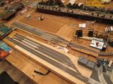 路面電車と地下鉄の車庫群