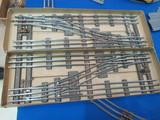 ガラレールの複線片渡り分岐器