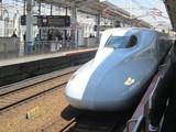 「みずほ」607号岡山駅到着