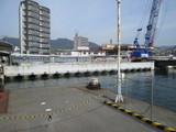 JR側桟橋改良工事現場