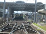 C号線から電車出発