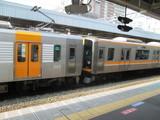分割作業中の阪神1000・9000系