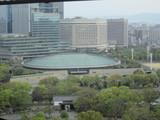 北東側大阪城ホールの屋根