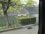 お堀の遊覧船