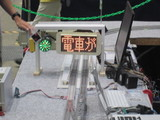列車接近表示器と信号灯
