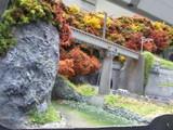 山岳区間を行く鉄路