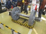 車輪測定体験コーナーの図