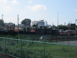 真岡駅構内に転がってる廃車体群