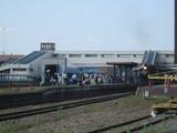 SL列車真岡駅到着