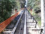 鞍馬山鋼索鉄道の軌道構造