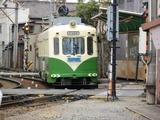 就航当時塗装のモ504号車
