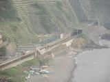 青海川駅と日本海