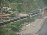 トワイライトエキスプレス青海川通過